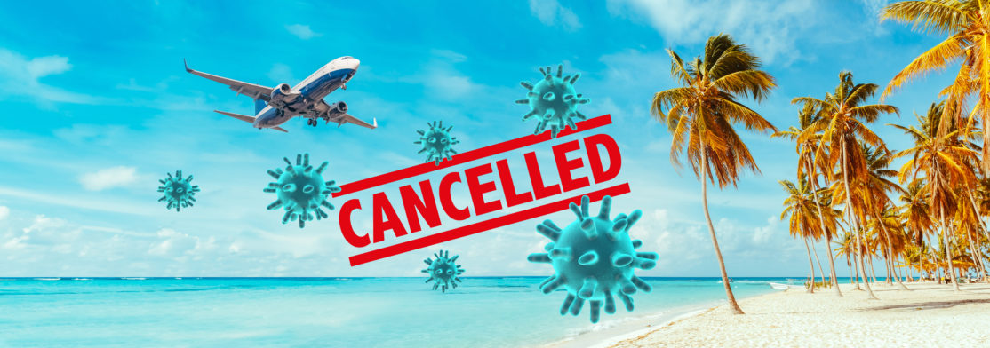 Cancellation of flights by the Coronavirus.