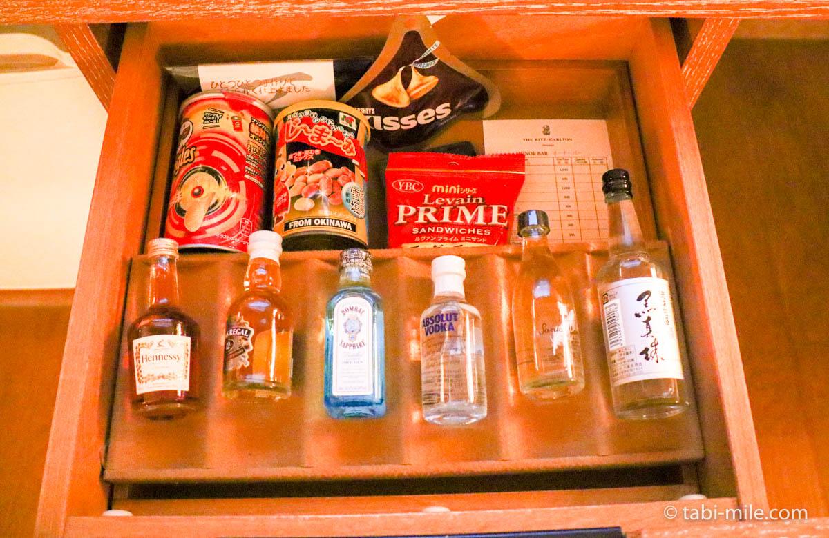 リッツ・カールトン沖縄、客室、お酒