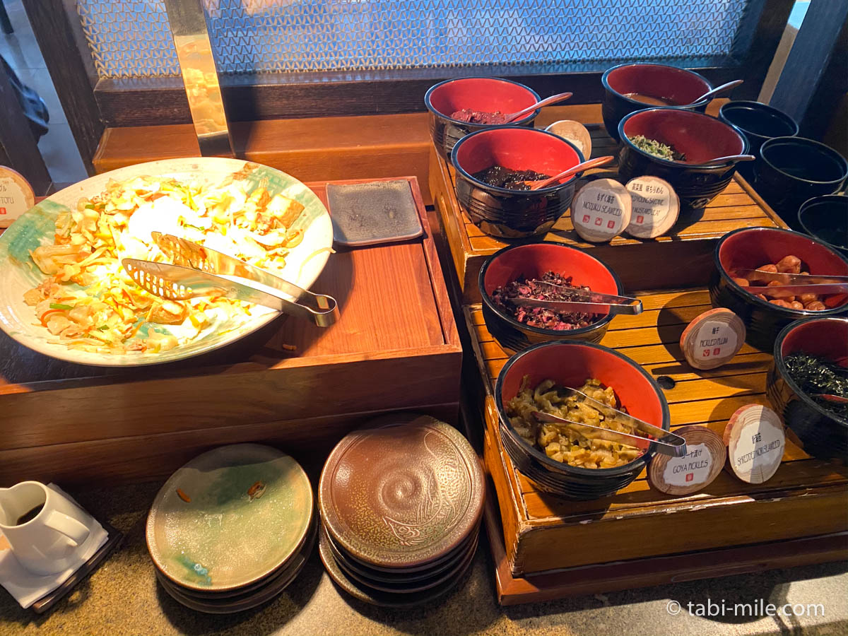 リッツカールトン沖縄、朝食ビュッフェ、グスク、豆腐ちゃんぷる