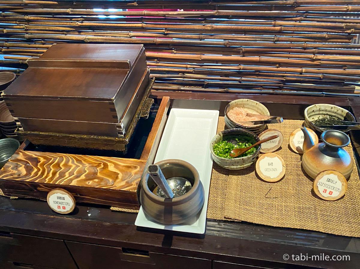リッツカールトン沖縄、朝食ビュッフェ、グスク、自家製豆腐