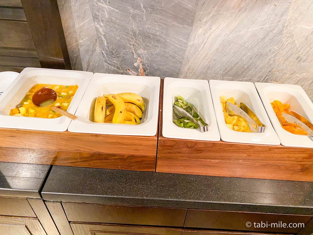 リッツカールトン沖縄、朝食ビュッフェ、グスク、フルーツ、フルーツポンチ