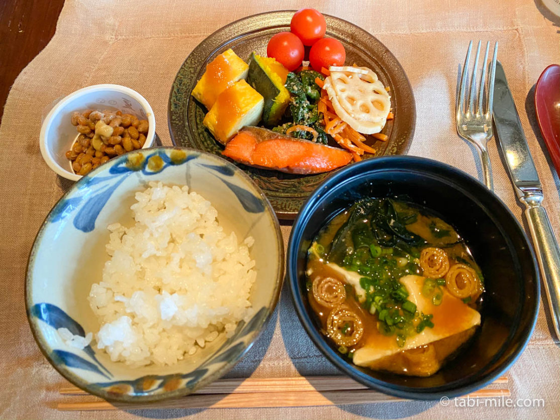 リッツカールトン沖縄、朝食ビュッフェ、グスク、食べた朝食、和食