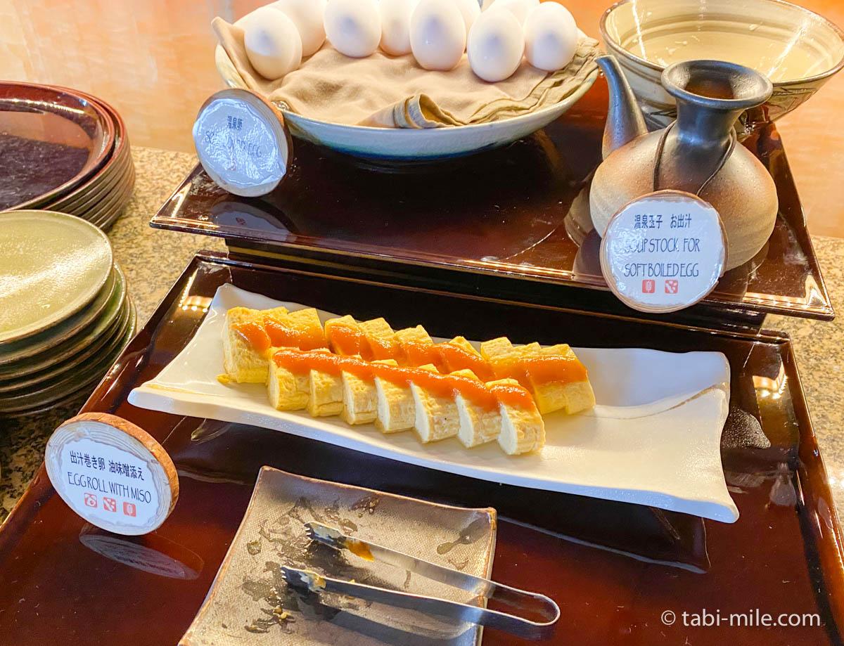 リッツカールトン沖縄、朝食ビュッフェ、グスク、だし巻き玉子