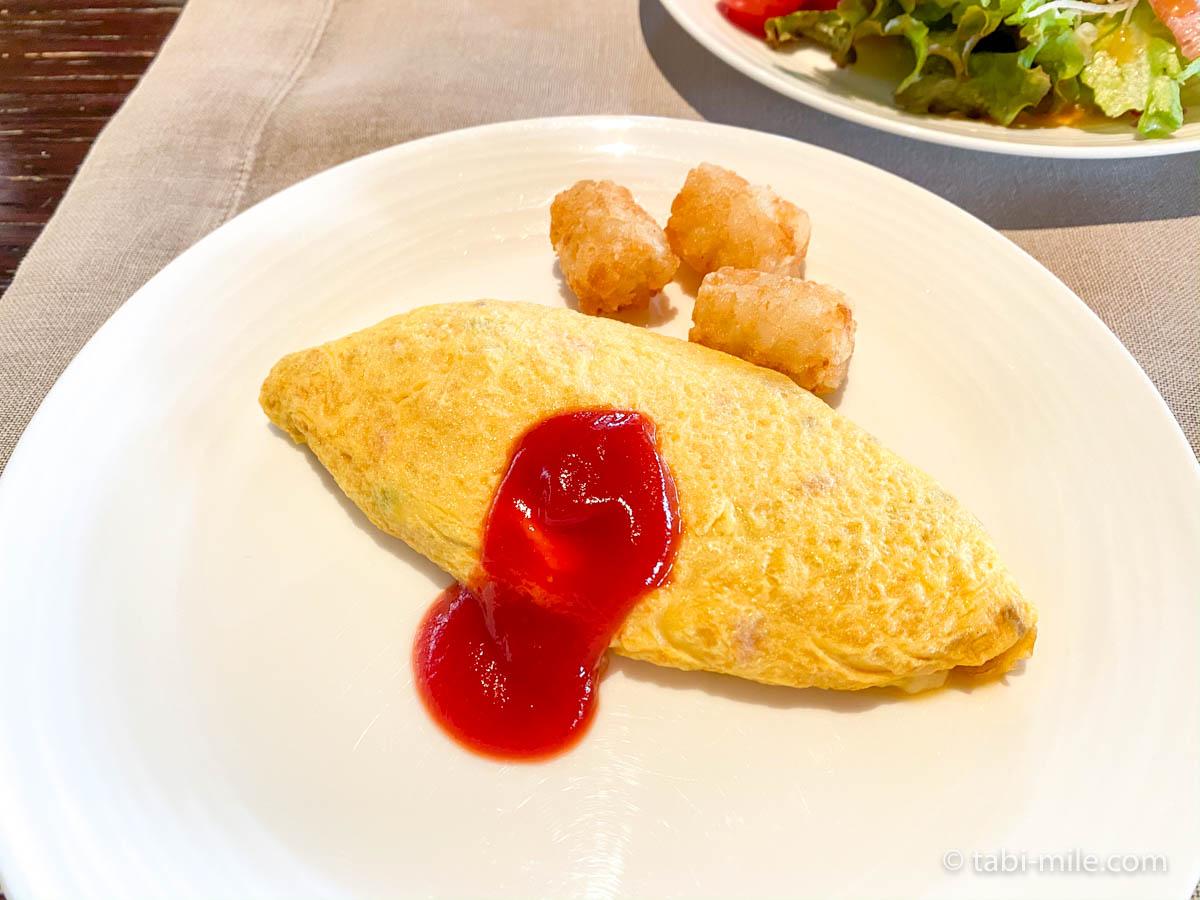リッツカールトン沖縄、朝食ビュッフェ、グスク、朝食ビュッフェ、卵料理、オムレツ