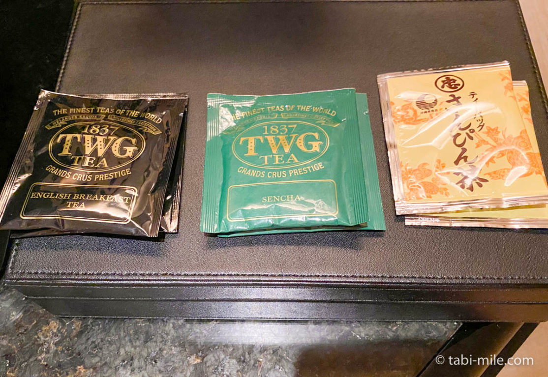 リッツ・カールトン沖縄、客室、紅茶、緑茶、さんぴん茶