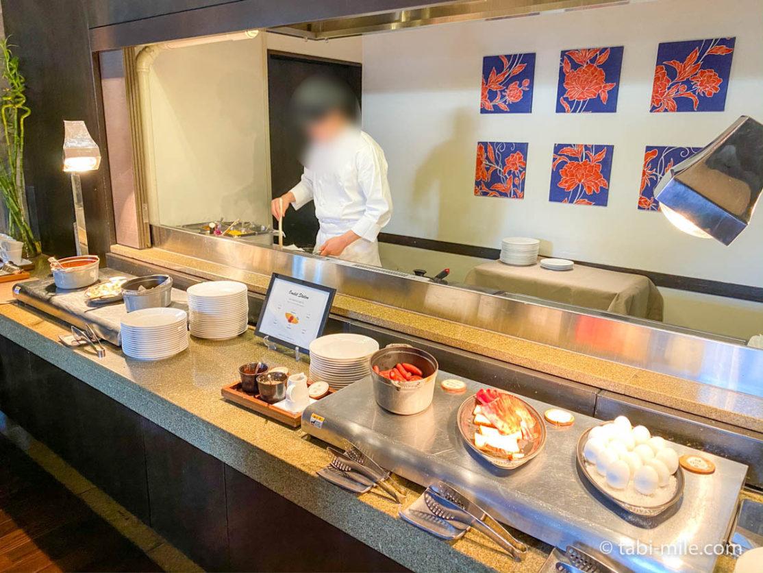 リッツカールトン沖縄、朝食ビュッフェ、グスク、朝食ビュッフェ、卵料理、シェフオーダー