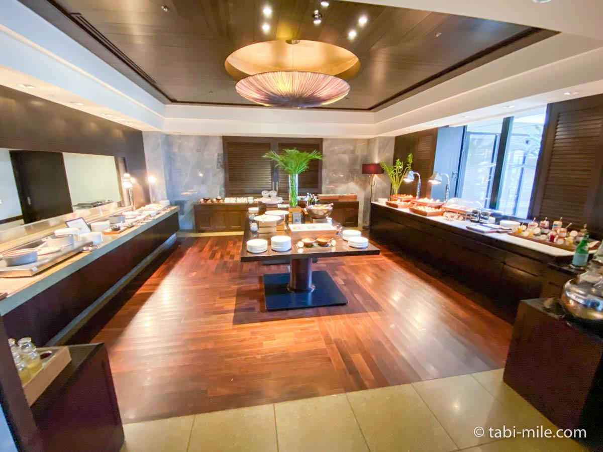 リッツカールトン沖縄、朝食ビュッフェ、グスク、朝食ビュッフェの様子、洋食