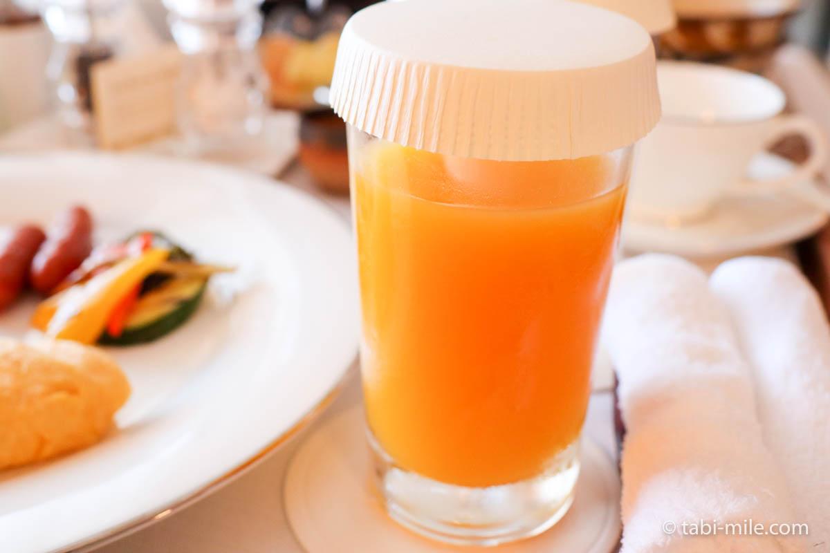 リッツ・カールトン沖縄、ルームサービス、朝食、和食、アメリカンブレックファースト、マンゴージュース