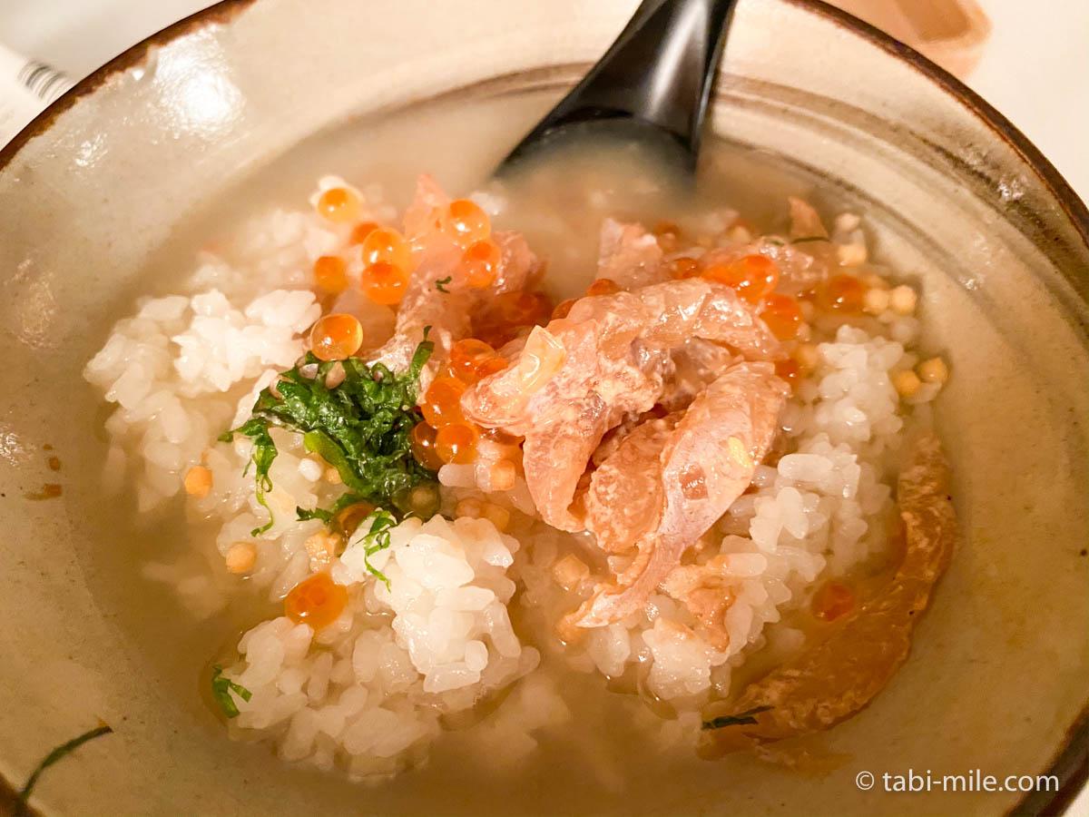 リッツ・カールトン沖縄、ルームサービス、夕食、お茶漬け、出汁