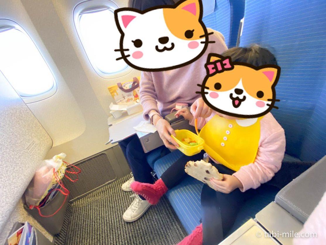 羽田空港、飛行機、機内、ランチ2