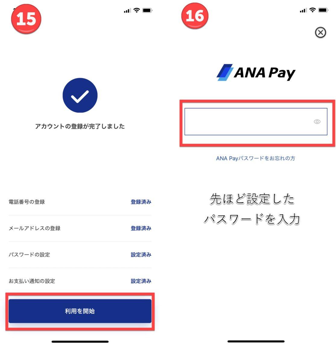 ANA Pay手順8