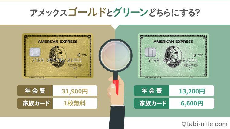 アメックスゴールドとアメックスグリーンの比較