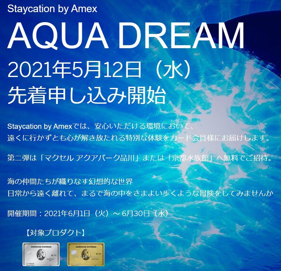 Staycation by Amex AQUA DREAM