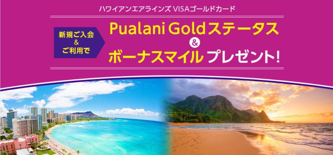 ハワイアンエアラインズVISAゴールドカード新規ご入会&ご利用キャンペーン